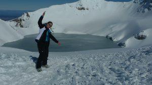 Skitouring auf dem Vulkan Mt. Ruapehu